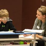 Vision therapy activities assist students by teaching the eyes and brain to work together.