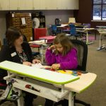 Vision therapy activities help students improve their vision